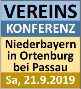 Abgesagt: Vereinskonferenz in Ortenburg am 21. September
