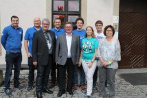 Das Trainerteam, Orgateam, DSJ Spielleiter und Staatssekretär Herr Eck